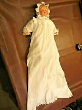 Antique Diamond Pottery of England Molded Bisque Doll In Christening Gown Dress