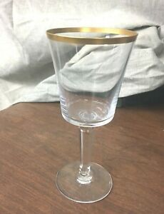 "Lenox USA Crystal Eternal (Gold Trim) 6-1/2"" Wine Glass"
