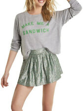 Wildfox Womens Sandwich WHG6544B6 Top Relaxed HTHR Grey Size S