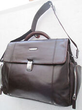 -AUTHENTIQUE (réf : JAZZ024904) sac de voyage PIQUADRO cuir  TBEG vintage bag