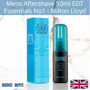 Essentials No1 Mens Aftershave By Milton Lloyd 50ml EDT Eau De Toilette Spray