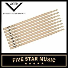 VATER VH5BW DRUMSTICKS WOOD TIP 5A 4 PAIRS DRUM STICKS USA HICKORY WOOD - NEW