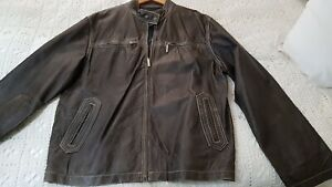 Mens 2xl Brown Leather Jacket