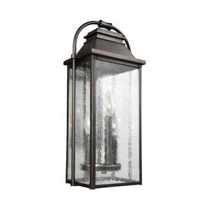 Feiss Wellsworth 3 Lt Outdoor Wall Lantern 8.75x18.25', Anq Bronze - OL13200ANBZ