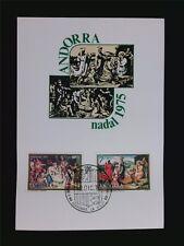 Andorra MK 1975 Nadal NATALE CHRISTMAS maximum scheda MAXIMUM CARD MC c5703
