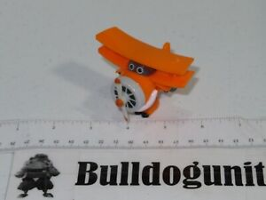 Orange Biplane Plastic Propeller Plane Toy