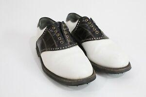 FootJoy Classics Tour Black Saddle Gold Shoes No Laces
