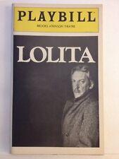 Playbill Lolita at Brooks Atkinson Theatre March 1981! Ian Richardson!