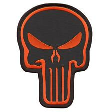 """large XXL 7""""x10"""" punisher skull embroidered morale back sew iron on patch"""