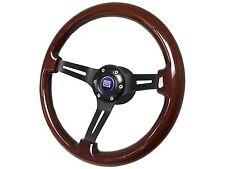 1984 - 2004 Ford Mustang Mahogany Wood Steering Wheel Kit, CS Shelby 3D Emblem