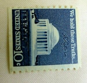 Jefferson Memorial US Postage Stamp We Hold These Truths 10 Cent Unused