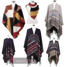 Écharpes et châles poncho en acrylique pour femme