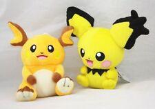 Pokemon Center Raichu & Pichu Pikachu Plush Doll Stuffed Animal Toy One Set US