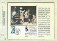 Foglio CEF 1er Giorno Sul Seta Francia Stampa Nazionale 1978