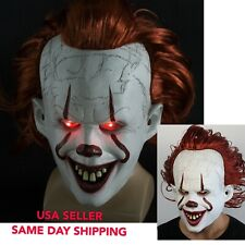 Halloween mask IT stephen king JOKER PENNYWISE IT CLOWN COSPLAY 2019 IN LATEX
