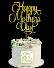 136. Happy Mothers Day Cake Topper, Cake Decoration, Glitter, Premium