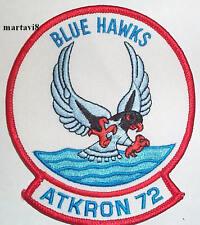 US.Navy `BLUE HAWKS - ATKRON 72` Squadron Cloth Badge / Patch (S3)