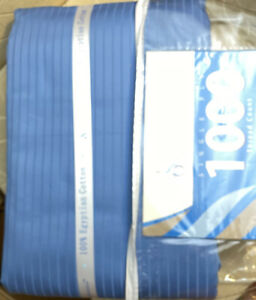 Impressions Full/Queen 1000 Thread Count Duvet Set 100% Egyptian Cotton-Blue