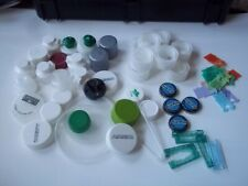 Lot of plastic caps, etc. for crafts project. *** Reuse: reduce waste ***