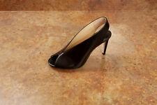 New! Jimmy Choo 'Shar' Peep Toe Slingback Pump Black Women 4 US 34 Eur MSRP $725