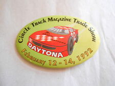 Vintage 1992 Circle Track Magazine Trade Show Daytona Race Car Souvenir Pinback