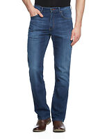 Wrangler New Mens Arizona Stretch Regular Fit Jeans Faded Cool Hand Blue Denim