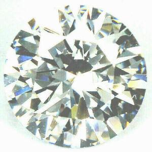 ***11.50ct./12x7mm.RAVISHING VIVID PURE WHITE ROUND DIAMOND LAB.LOOSE GEMSTONE