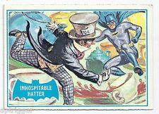 1966 Topps Batman Blue Bat with Bat Cowl Back (42B) Inhospitable Hatter