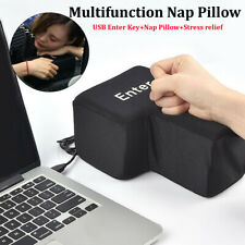 Big Enter Anti Stress Relief Button USB Nap Pillow Supersized Unbreakable Key