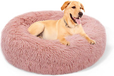 New listing Gordita Dog Bed Cat Bed Comfortable Donut Cuddler Round Dog Pillow Bed Nest Anti