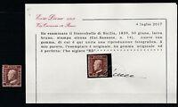 BB.32 - Italy stamp,1859, Sicilia, Sassone 14