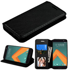 For HTC 10 Phone Leather Cover Case Wallet Protective Stand Pouch Folio Textured