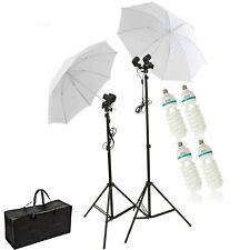 Continuous Lighting Umbrella Studio Kit 150W Dual Holder Photography Stand UK