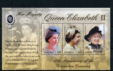 Lesotho 2004 MNH HM Queen Elizabeth II Coronation 50th Anniv 3v M/S Stamps