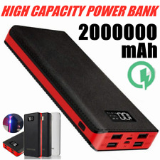 New Power Bank 2000000mAh 4USB LED External Battery Fast Charger Portable Backup