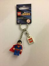 NEW LEGO SUPER HEROES SUPERMAN MINIFIGURE KEY CHAIN, KEY RING, 853430 *RETIRED*