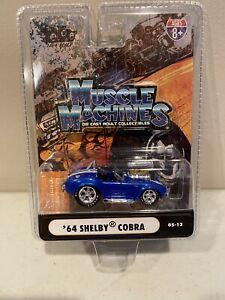2005 THE ORIGINAL MUSCLE MACHINES '64 Shelby Cobra Blue 1:64