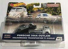 2019 Hot Wheels Team Transport #13 Porsche 356A Outlaw VW Transporter T1 Pickup