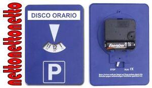 DISCO ORARIO ELETTRONICO / AUTOMATICO con Adesivo in Italiano