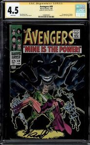 AVENGERS #49 CGC 4.5 WHITE SS STAN LEE SIGNED 1ST APP OF TYPHON CGC #1508493007