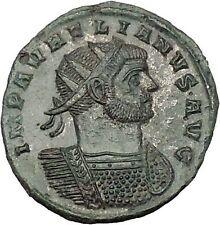 AURELIAN 270AD Silvered Rome mint  Ancient Roman Coin  Marital harmony  i53314