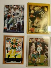New listing Awesome (4) Card Lot#7, NFL, Favre, Romo, Sanders, Marino