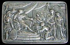 1813 LONDON STERLING SILVER GEORGIAN RECTANGLE SNUFF BOX IMPERIAL ROMAN SCENE