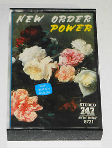 "New Order - Power -  1983 Singapore - Ultra Rare ""Powder"" Misprint 747 Cassette"