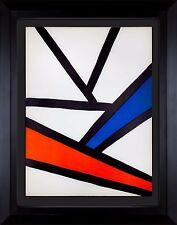 Alexander Calder Original Farbe Lithographie Limitierte Ed.1968 W / Rahmen Inkl.