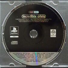 promo INCREDIBLE CRISIS PlayStation UK PAL・♔・pre-release full game TITUS PS1 PS2
