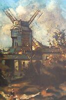 Maurice Utrillo 1931 Montmartre Sacré Coeur Lithographie Ancien Litho Spadem 4