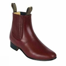 Besserro Charro Boot, Genuine Leather, Leather Sole, Color Vino, Style 700
