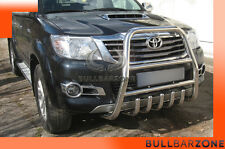 TOYOTA HILUX 2013+ TUBO PROTEZIONE ALTO BULL BAR INOX STAINLESS STEEL