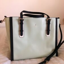 Kate Spade Women's Satchel Crossbody Strap Handbag Mint Green/Black